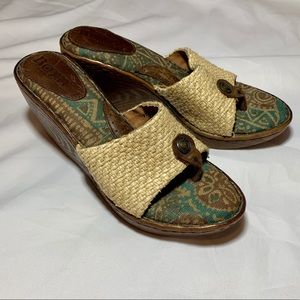Born Hand Crafted Woven Wedge Heel Size 7